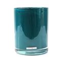 Henry Dean Vase/Windlight Cylinder, h 16.5 x Ø 13,5.5 cm, Teal