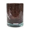 Henry Dean Vase/Windlicht Cylinder, H 16,5 x Ø 13,5 cm, Brunette