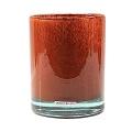 Henry Dean Vase/Windlicht Cylinder, H 16,5 x Ø 13,5 cm, Brick