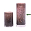 DutZ®-Collection Vase Cylinder, H 30 x Ø 12 cm, Aubergine mit Bubbles