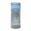 DutZ®-Collection Vase Cylinder, H 30 x Ø 12 cm, Stahlblau mit Bubbles