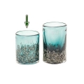 DutZ®-Collection Vase Cylinder, H 10 x Ø 9 cm, Pinie mit Bubbles