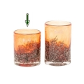 DutZ®-Collection Vase Cylinder, H 10 x Ø 9 cm, Rotorange mit Bubbles