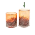 DutZ®-Collection Vase Cylinder, H 14 x Ø 9 cm, Rotorange mit Bubbles