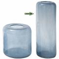 DutZ®-Collection Vase Mira, H 58 x Ø 20 cm, Stahlblau