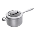 SCANPAN CTX, Sauce Pan with glass lid, stainless steel, non-stick coating, handles stainless steel, Ø 20 cm, 3.5 l
