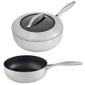 SCANPAN CTX, Sauté Pan hoch with glass lid, stainless steel, non-stick coating, handles stainless steel, Ø 26 cm, 3.7 l