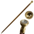 Walking Stick Captain's Cane with built in compass, length 92 cm