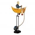 Balancefigur Salty Dog mit Echtheitszertifikat und Metallseriennummer, Maße: H 54 cm x B 32 cm x T 11 cm
