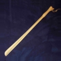 Shoehorn extra long, duck head design, beech wood, oil-impregnated, length 65 cm
