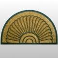 Paillasson en fibres de coco, dessous antidérapant en caoutchouc, motif coquillage, dimensions: L 100 x l 60 cm