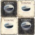 Marmor Untersetzer 4er Set, Motivserie Titanic, Antikfinish, Kork-Rückseite, Maße: L 10 x B 10 x H 1 cm