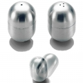 Salt and Pepper Shaker Tumbler, satined stainless steel, Dimensions: h 5.6 x Ø 3.6 cm