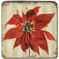 Marmorfliese, Motiv: Weihnachtszweige A,  Antikfinish,  Aufhängeöse, Antirutschf., Maße: L 20 x B 20 x H 1 cm