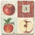 Marble Tile, Monogram A, antique finish, hanger, anti slip nubs, Dim.: l 20 x w 20 x h 1 cm