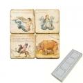 Memomagnete Set Fabelwesen 1, Marmor, Antikfinish, 4 er Set in Box, Maße: L 5 x B 5 x H 1 cm