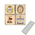 Memomagnete Set Biere 1, Marmor, Antikfinish, 4 er Set in Box, Maße: L 5 x B 5 x H 1 cm