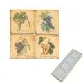 Memomagnete Set Trauben 1, Marmor, Antikfinish, 4 er Set in Box, Maße: L 5 x B 5 x H 1 cm