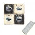 Memomagnete Set Titanic, Marmor, Antikfinish, 4 er Set in Box, Maße: L 5 x B 5 x H 1 cm