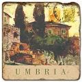 Marmorfliese, Motiv: Italienische Städte D,  Antikfinish,  Aufhängeöse, Antirutschf.., Maße: L 20 x B 20 x H 1 cm