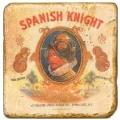 Marmorfliese, Motiv: Zigarrenmarken 1 A,  Antikfinish,  Aufhängeöse, Antirutschf., Maße: L 20 x B 20 x H 1 cm