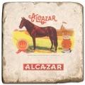 Marmorfliese, Motiv: Zigarrenmarken 2 C,  Antikfinish,  Aufhängeöse, Antirutschf., Maße: L 20 x B 20 x H 1 cm