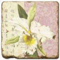 Marble Tile, Theme: Blooming Branches B, antique finish, hanger, anti slip nubs, Dim.: l 20 x w 20 x h 1 cm