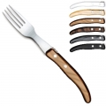 Laguiole Berlingot table forks Gris-Marron, set of 6 in box, acrylic handles, colors: Naturel, Blanc, Cappuccino, Marron, Gris, Noir, Dimensions: l 23 cm