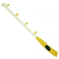 Wardrobe Paddle, signal flag I, wood, lacquered white, yellow, black, with 4 hooks, Dimensions: l 120 x d 9 cm.