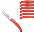 Laguiole Berlingot dessert knives Rouge, set of 6 in box, acrylic handles, color: Rouge, Dimensions: l 18 cm