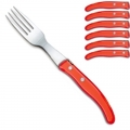 Laguiole Berlingot table forks Rouge, set of 6 in box, acrylic handles, color: Rouge, Dimensions: l 23 cm