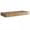 Shelf System Library Brown, antique design base element, brass front lining, cherry, birch, maple, Dimensions: l 80 x h 8.5 x d 33 cm