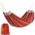 Hängematte Cur-Ambera, Rot, 100% Baumwolle, Belastung 120 kg, Gesamtl. 360 cm, Liegefläche 220 x 140 cm