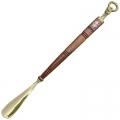 Chausse-pied, extra-long, laiton/bois de rose, avec crochet, L 62 cm