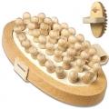 Brosse anti-cellulite, hêtre, picots en érable, sangle de coton, dimensions: L 13,5 x l 6,5 cm