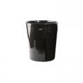 DutZ®-Collection Vase Conic, H 17  x  Ø.15 cm, colour: black