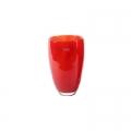 DutZ®-Collection Flower Vase, h 26 x Ø 16 cm, colour: red