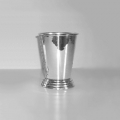 Drinking Cup with base, shiny silver plated, conical, Dimensions: h 12 x Ø 8 cm