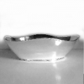 Bowl, oval, shiny silver plated, Dimensions: l 31 x w 21 x h 10.5 cm