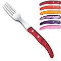 Laguiole Berlingot table forks Fuego, set of 6 in box, acrylic handles, colors: Pink, Lilac, Violet, Bordeaux, Red, Orange, Dimensions: l 23 cm