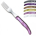 Ensemble Gris-violet de fourchettes de table Berlingot Laguiole, coffret, lot de 6, acrylique, coloris: gris, olive, cappuccino, mauve, violet, blanc, dimensions: L 23 cm