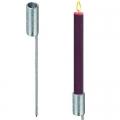 Outdoor-Kerzenfackel-Ständer-Set, 2 Stück, Aluminiumguss, Maße: L mit Spieß 40 x Ø Schaft innen 4 cm