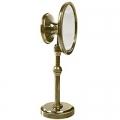 Make-up mirror Belle Époque, antique brass, 2 mirrors, h 33 x Ø top 12.5, Ø foot 9 cm