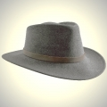Fedora felt hat, Grey, Size M, 57/58 cm, cowhide band outside/cotton band inside, waterproof, crushable, dimensionally stable