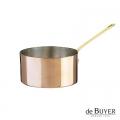 de Buyer, Stielkasserolle, 90% Kupfer, 10% Edelstahl, Stiel Messing, massiv, Ø 16 x H 8,0 cm, 1,6 l