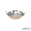de Buyer, Gratin Pan, round 90% copper, 10% stainless steel, solid brass handles, Ø 12 x h 2.0 cm
