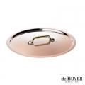 de Buyer, Lid, round, 90% copper, 10% stainless steel, solid brass handle, Ø 20 cm