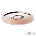 de Buyer, Lid, round, 90% copper, 10% stainless steel, solid brass handle, Ø 24 cm
