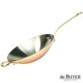 de Buyer, Wok, 90% copper, 10% stainless steel, solid brass handles, Ø 32 x h 6 cm