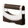 Chopping-Knife Set Dondola, with stand, handle and stand ash wood brown, h 12.5 x l 15 x d 3.5 cm